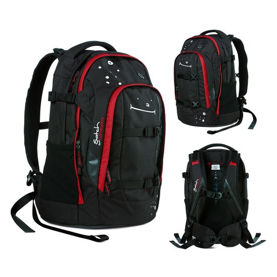 Satch Pack Cleptomanicx Black Toast Schulrucksack