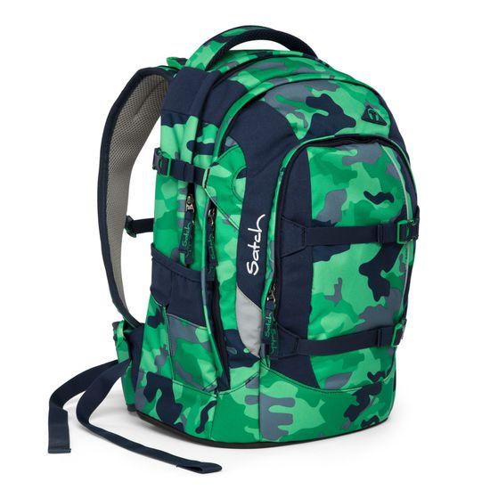 Satch Pack Green Camou Schulrucksack