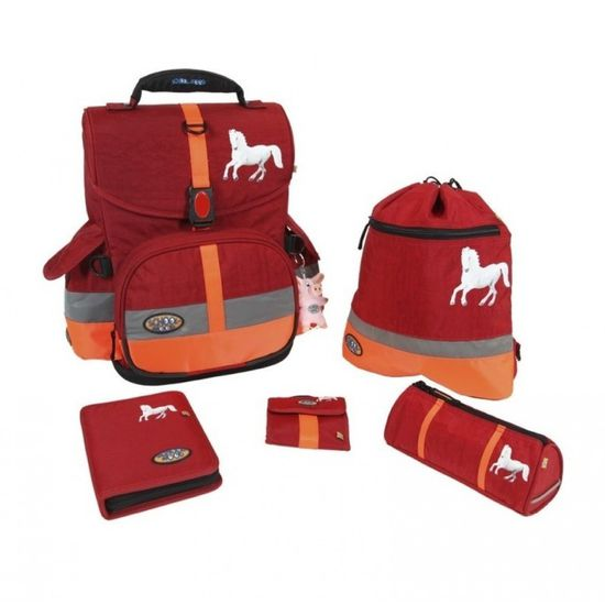 School Mood Timeless I Schimmel Red Crinkle Schulranzen Set 6tlg.