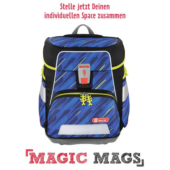 Step by Step Space Soccer Team Schulranzen Set 5tlg. mit Magic Mags nach Wahl