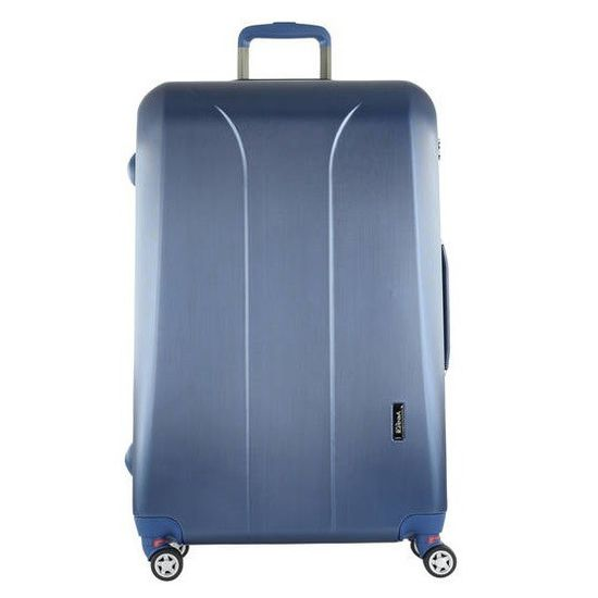 March New Carat Navy Brushed 4-Rollen Trolley M 65cm
